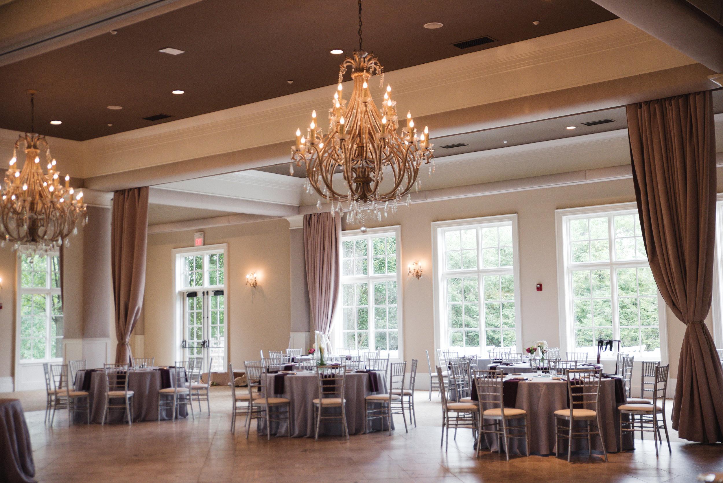 ballroom at Pinnacle Golf Club wedding