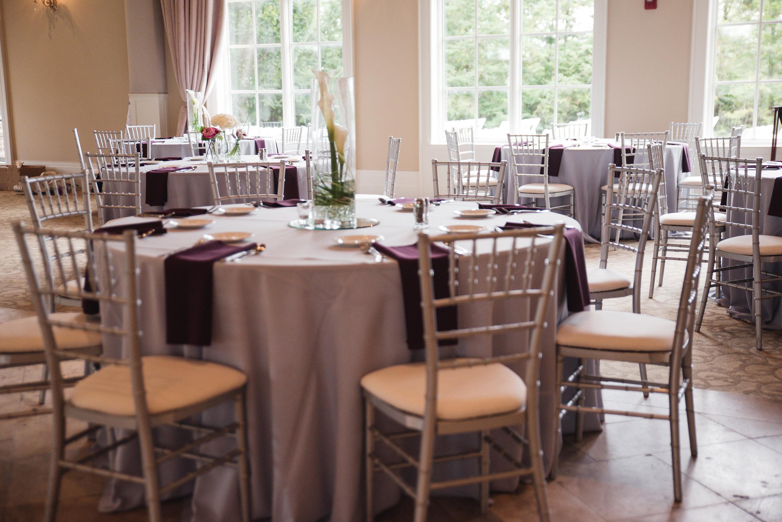 table setting columbus ohio wedding pinnacle golf club