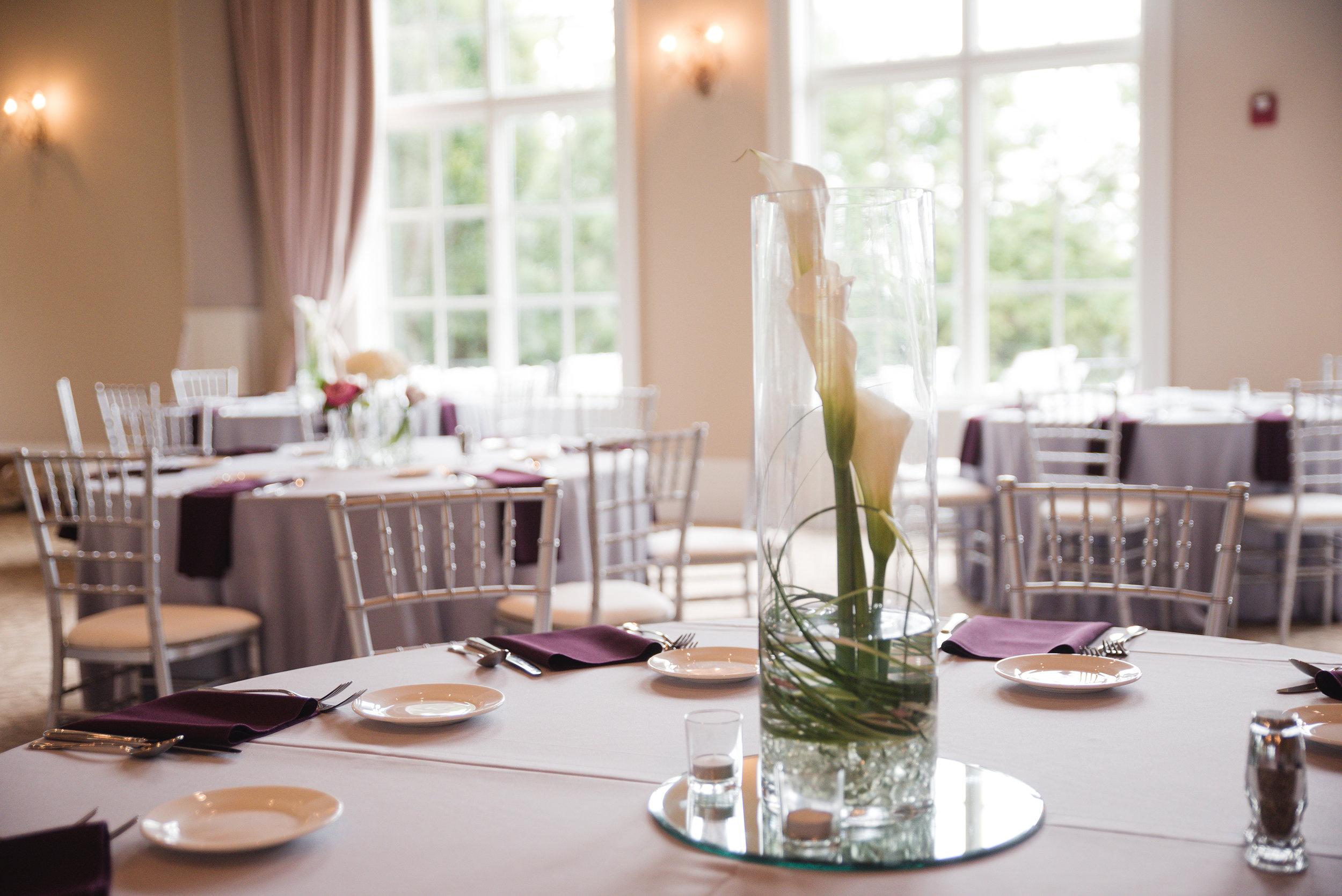 centerpieces columbus ohio wedding at pinnacle golf club photographer