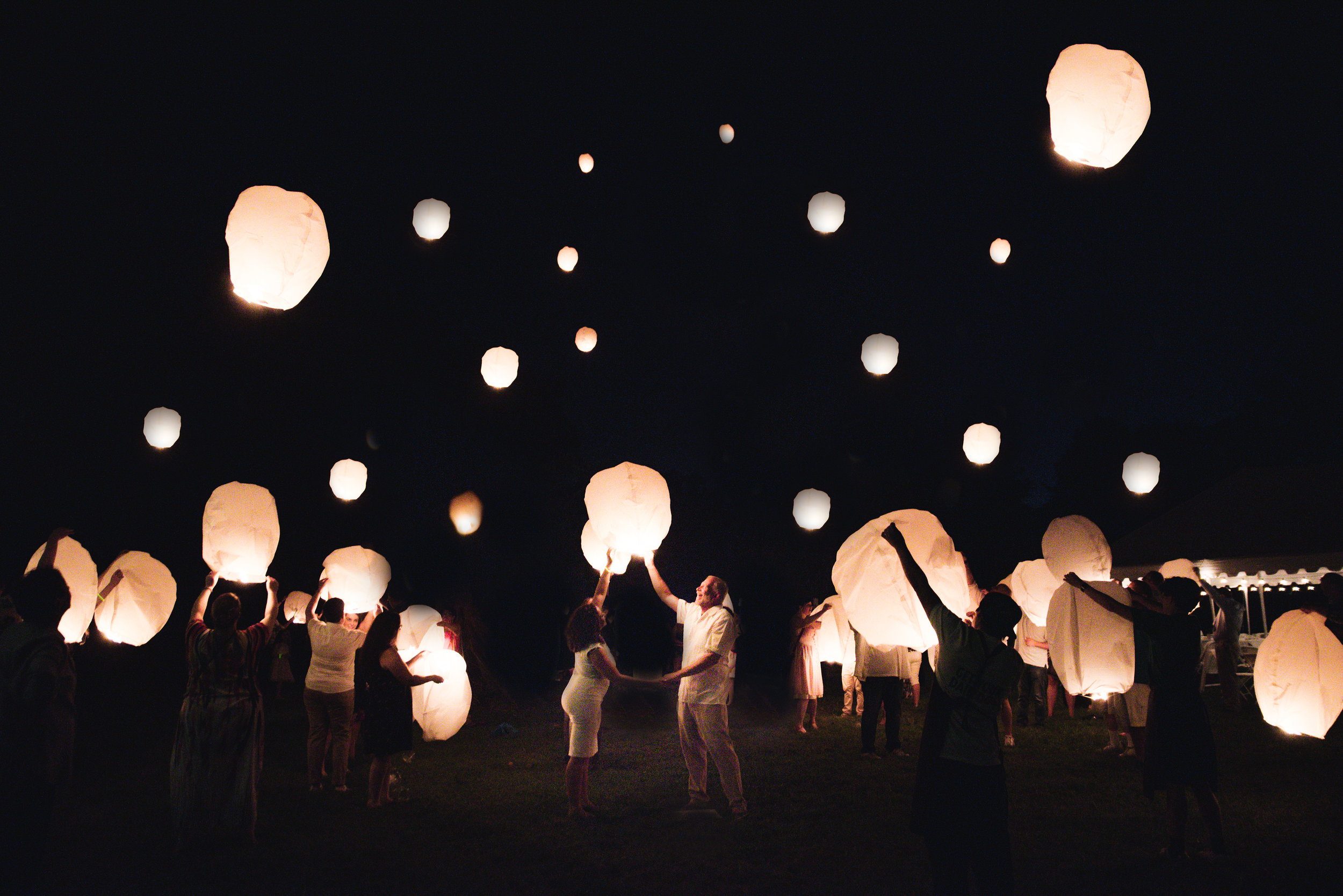 lantern release wedding photo pickerington ohio