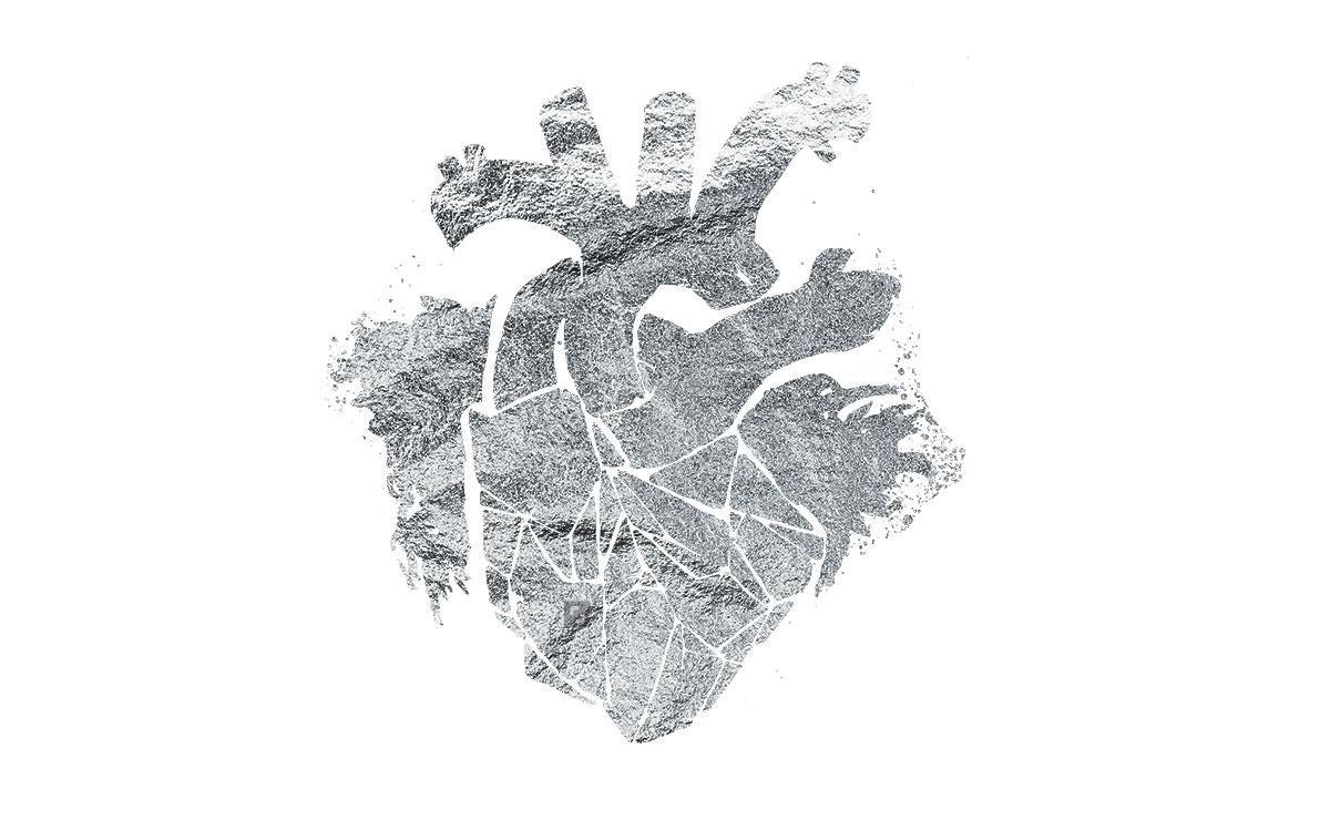 Silver heart -