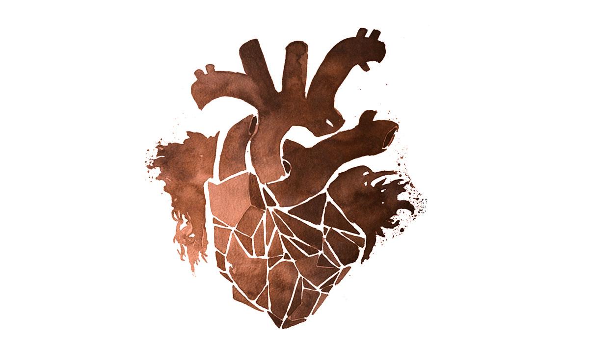 bronze heart -