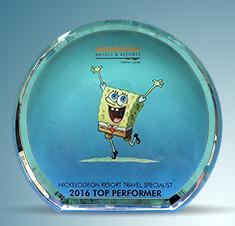 Nickelodeon Resort Travel Specialist | Top Performer 2016