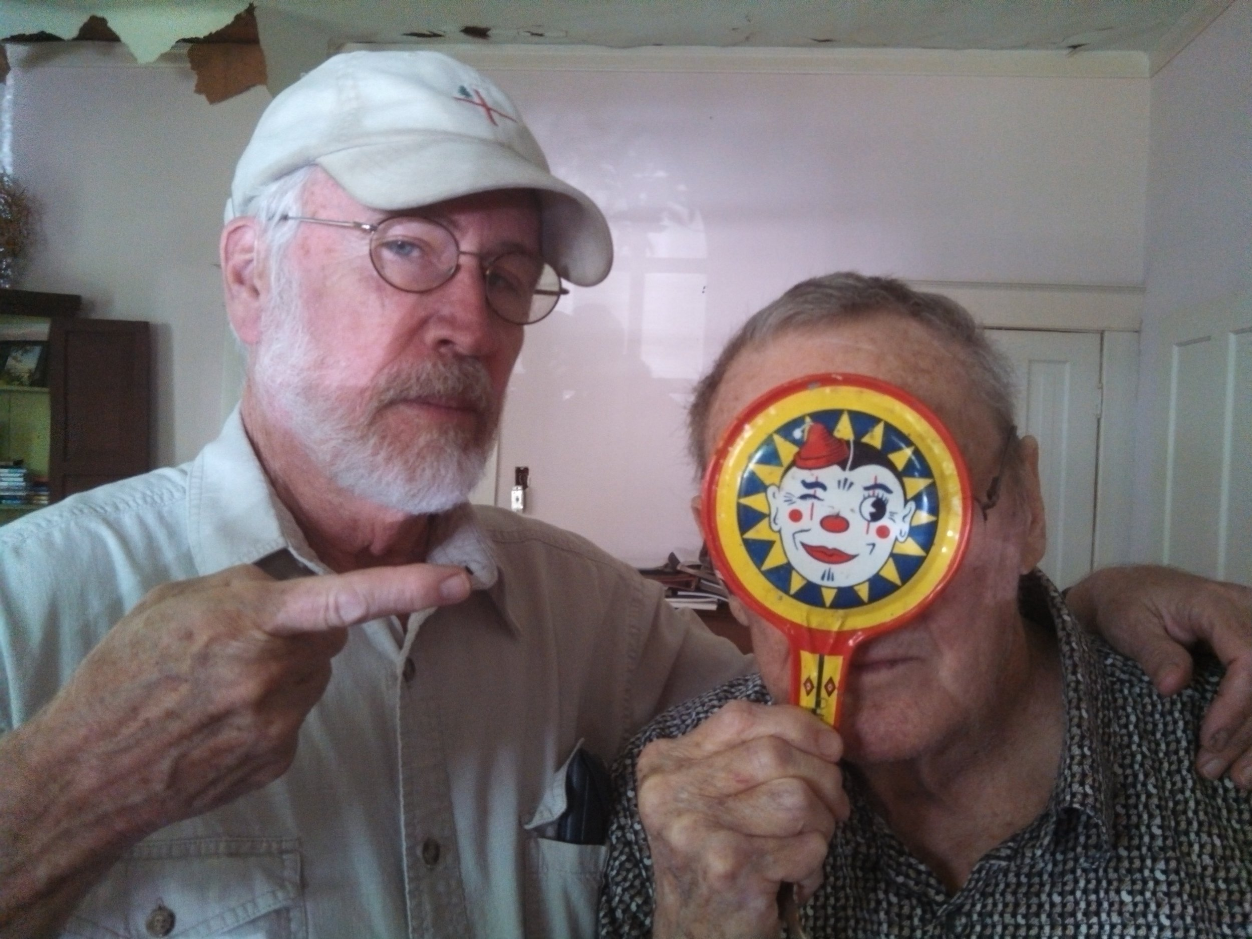 Jim Moore and Glenn as Winking Clown