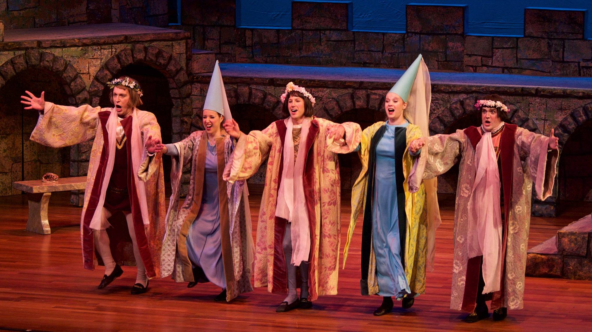 Melissa ( Princess Ida ) at Skirball Center for the Performing Arts, with Matthew Wages, Cameron Smith, Sarah Hutchison, and Daniel Greenwood (L to R) (Credit: William Reynolds)