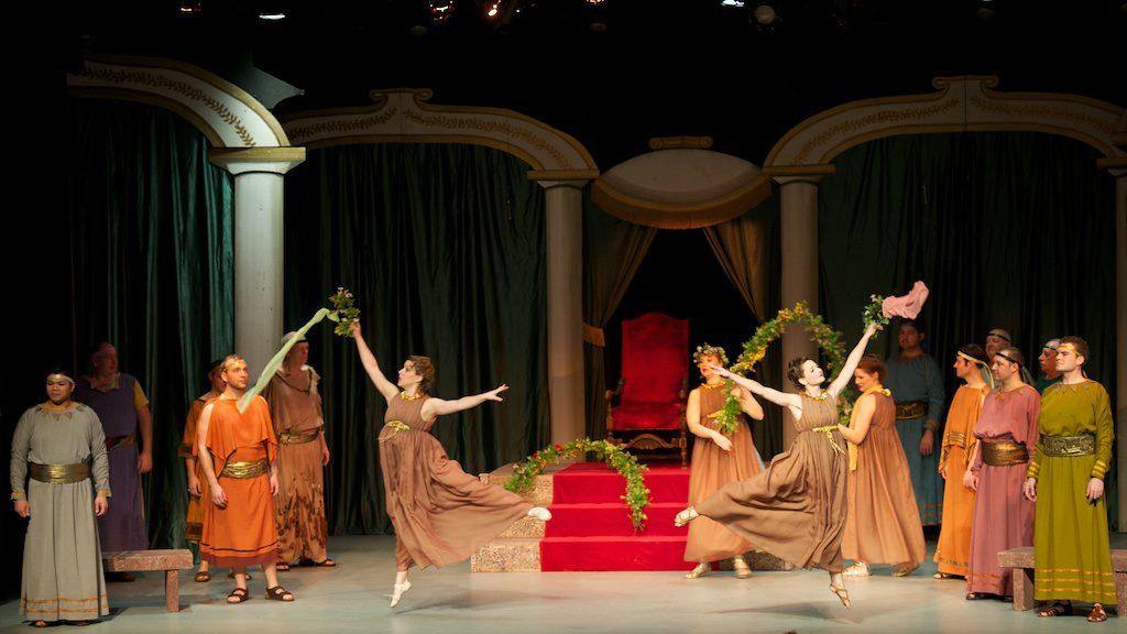 Gretchen ( The Grand Duke ) dances, Symphony Space. (Credit: William Reynolds)