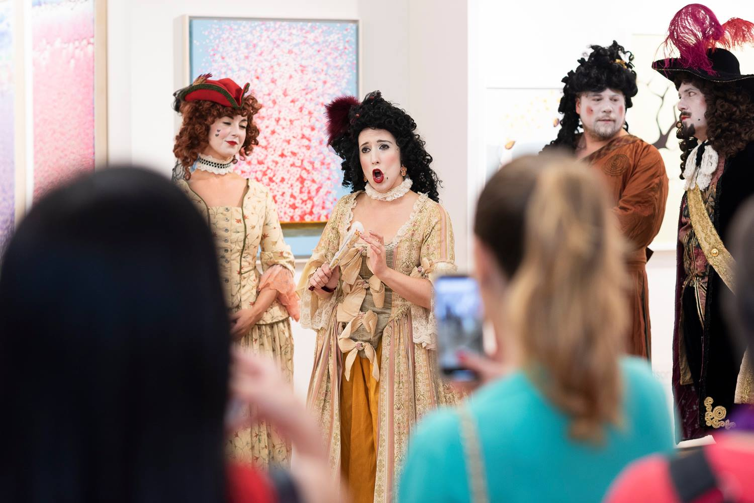 """Soloist at """"Art After Dark"""" at the Affordable Art Fair NYC, with New Camerata Opera (Credit: Phillip Reed)"""