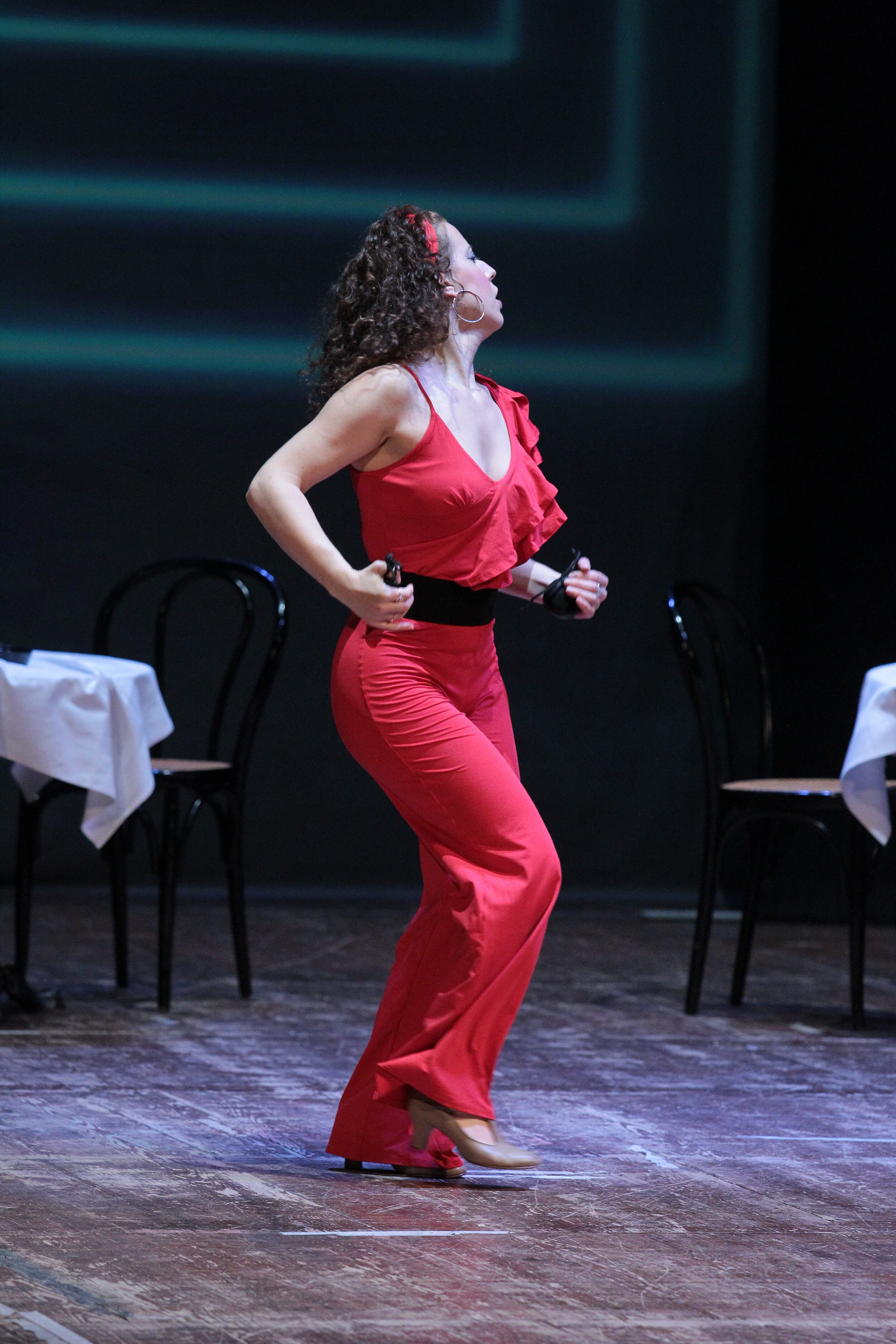 Carmen plays castanets