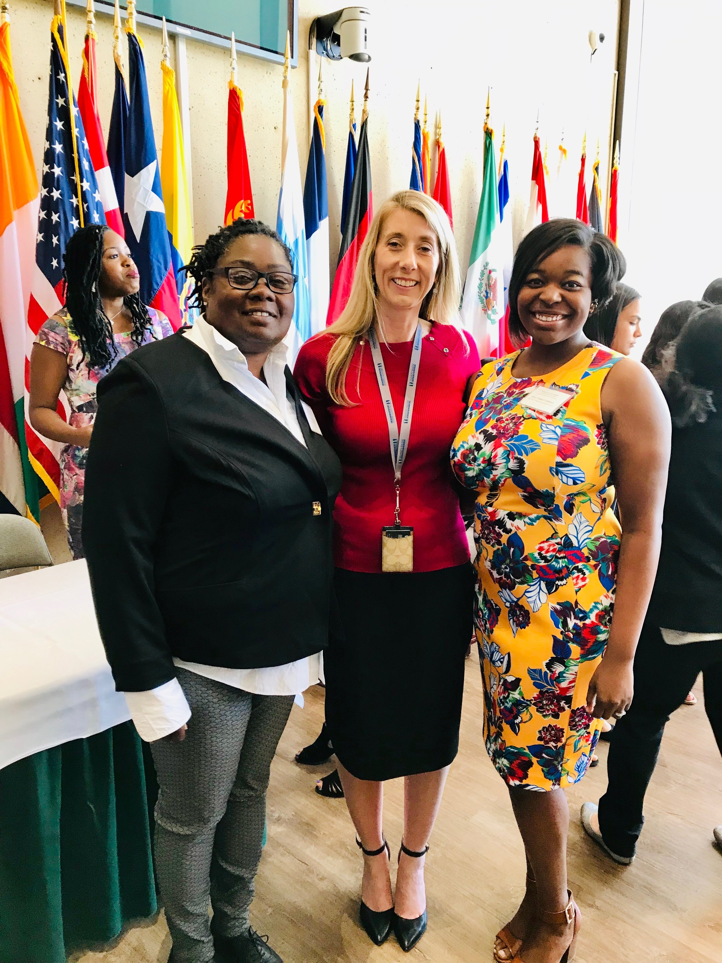 Tracy Rowe, Lesley Austin, and Erica Tollbert Callahan at the 2019 Oak Cliff Chamber of Commerce Educators of the Year Ceremony