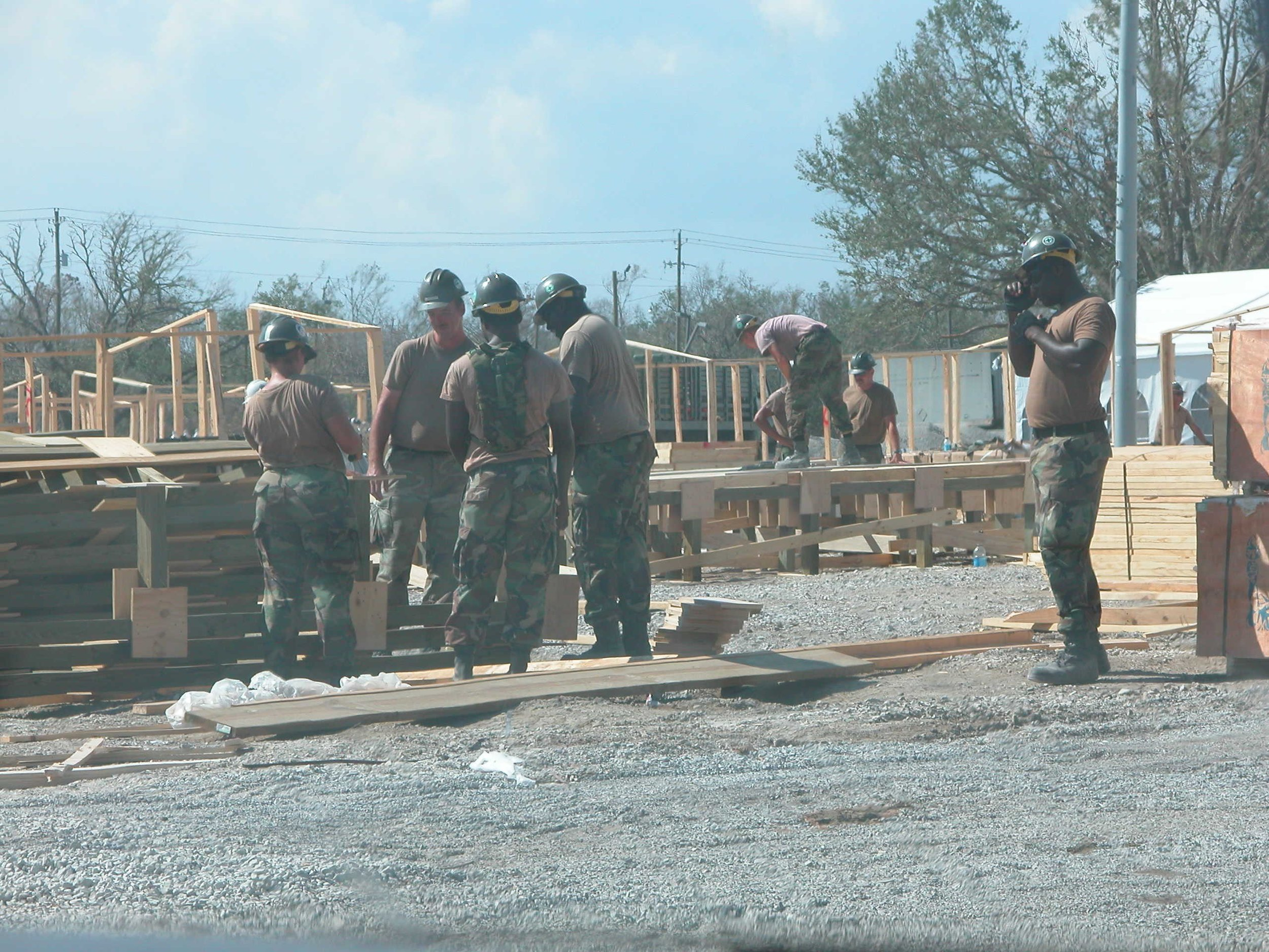 12. Four weeks after the storm, Gulfport Seabees were already rebuilding the community.