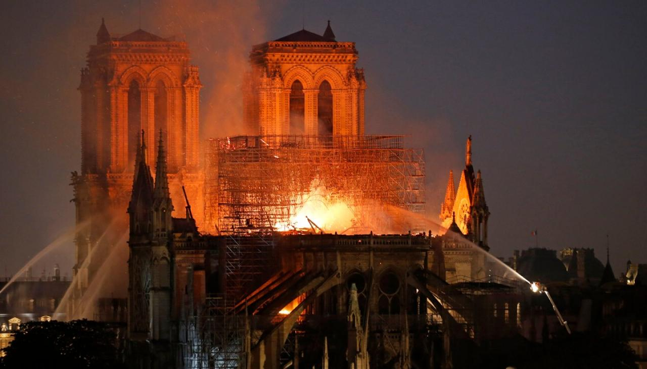 The fire at Notre-Dame Cathedral