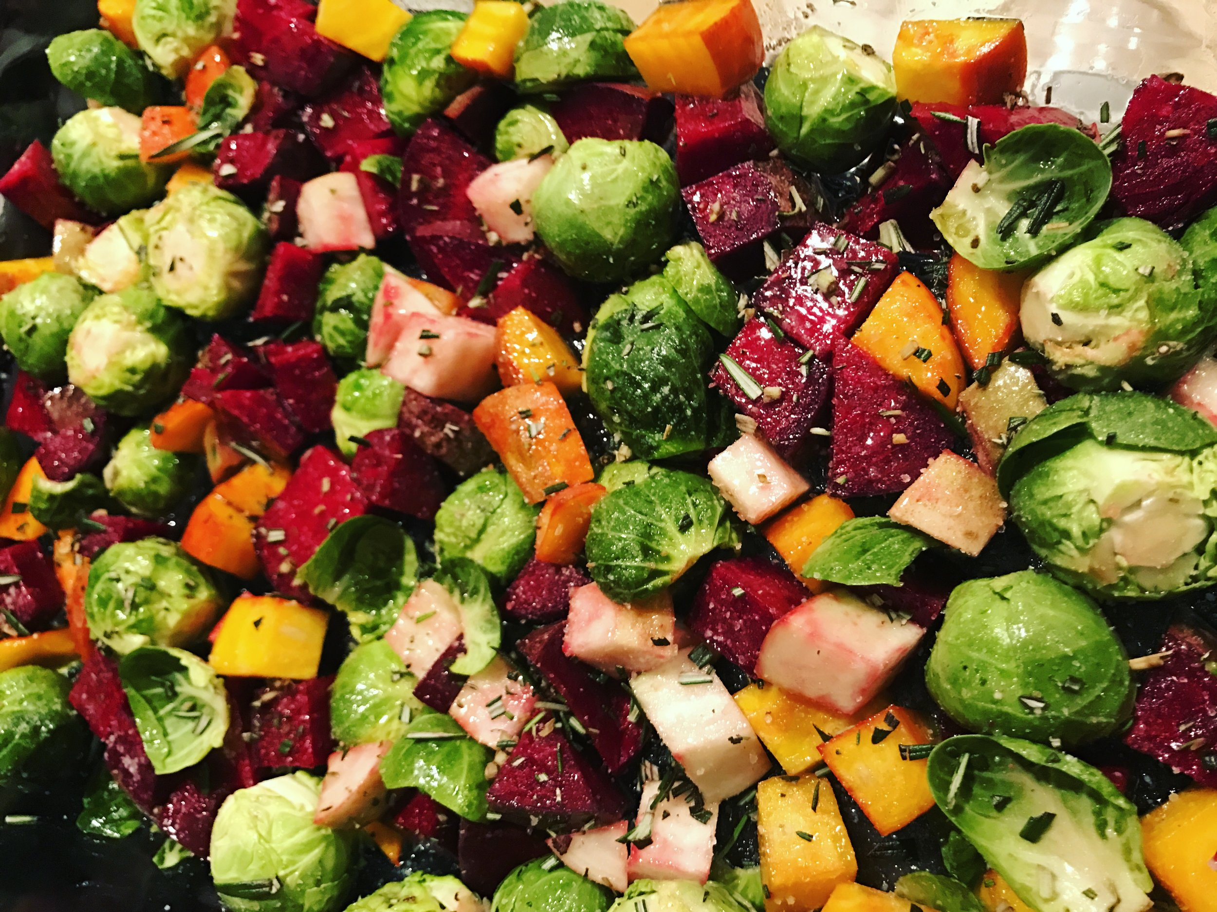 Beets and Brussel Sprouts