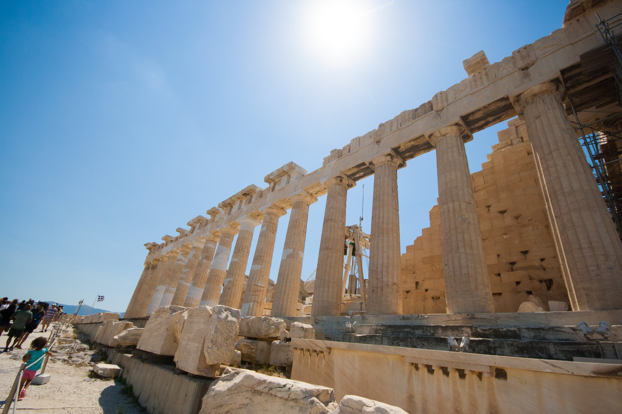 The Parthenon is a temple that was dedicated to the goddess Athena and was completed in 438 BC.  2500 years old...incredible!
