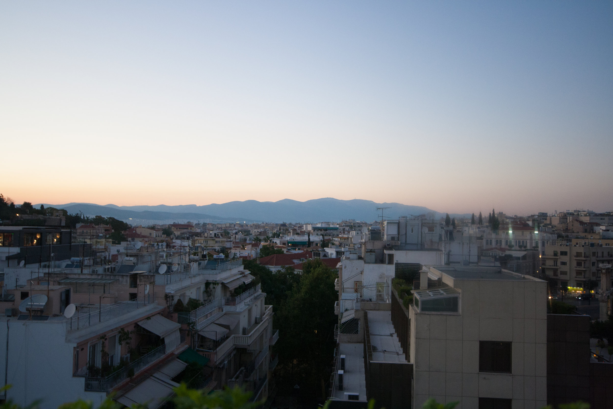 Mountain View from Athens Gate