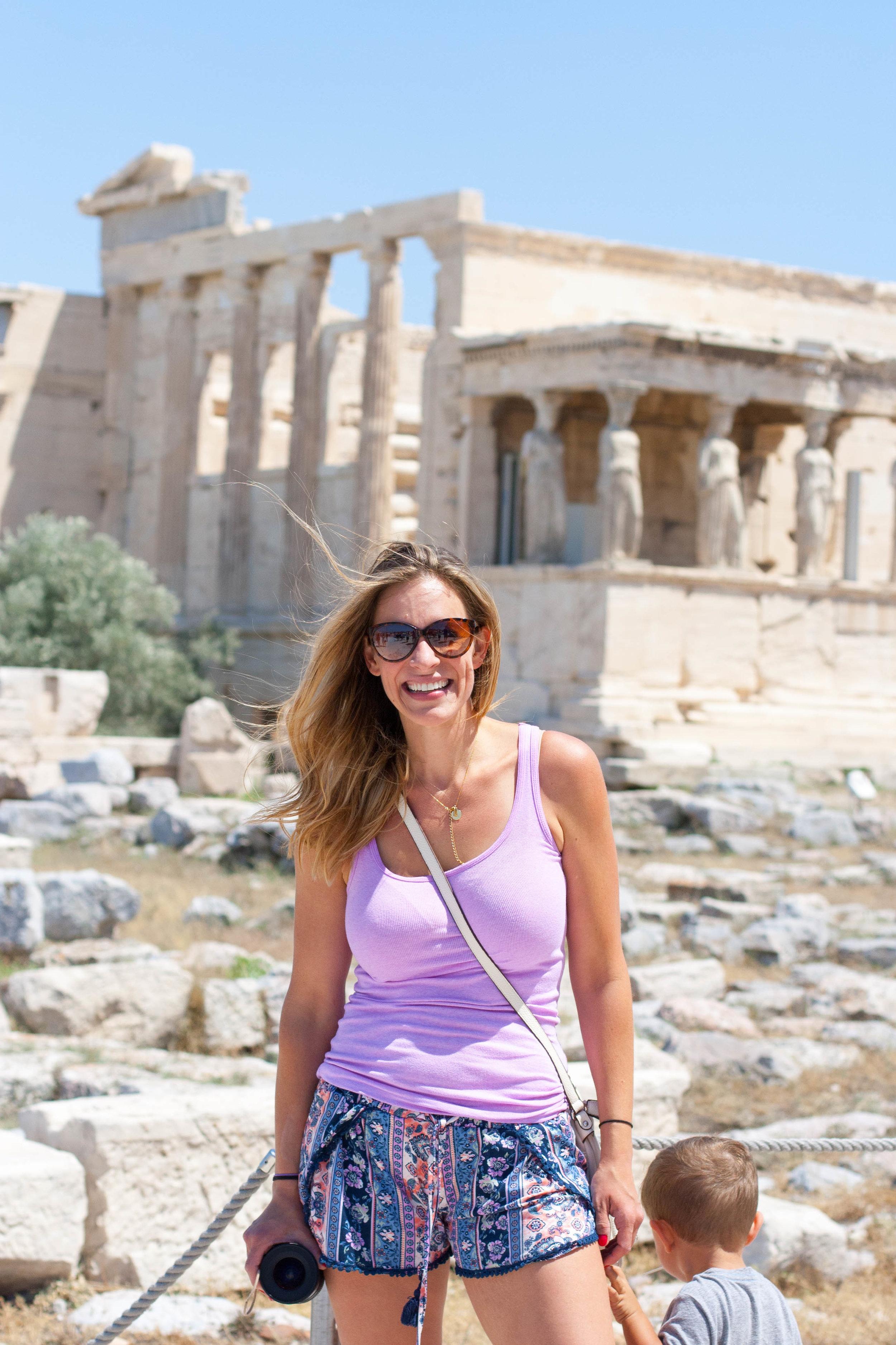 Andrea at parthenon