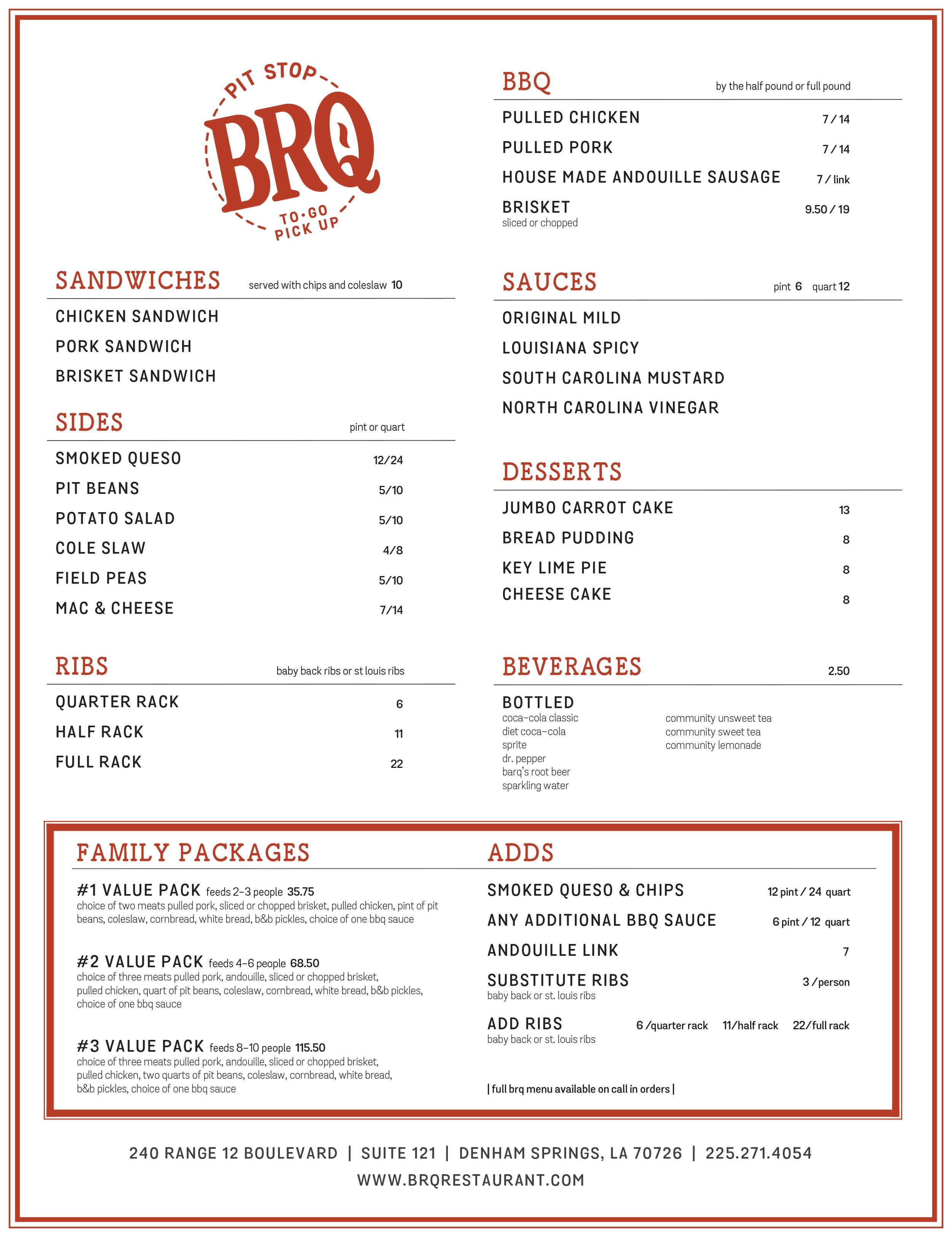 BRQ Restaurant Denham Springs Pit Stop