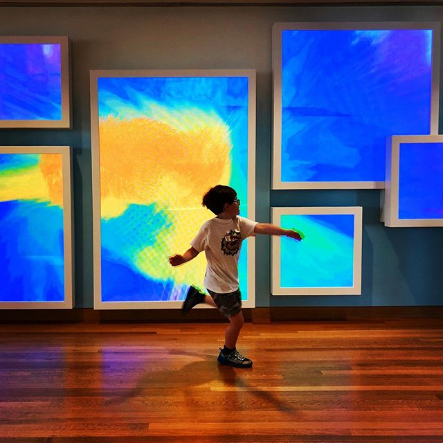 Interactive artwork at the High! Express yourself was colorful fun! #minavacation #travelwithkids #highmuseumofart #museumswithkids #exploreatlanta