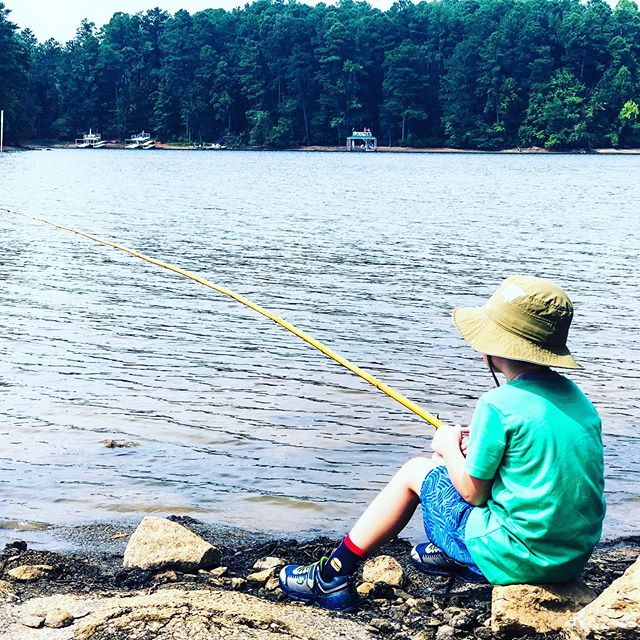 Mom and son camping at Lake Allatoona was a blast and something I'll always cherish. ⛺️ #minavacation #camping #momandsontime #lakeallatoona #acworth #visitgeorgia #fishing