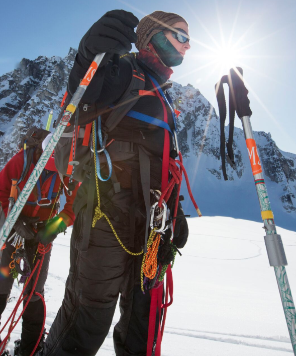 Kirstie Ennis during a training trip for Mount Denali. Ennis would be the first female above-the-knee amputee to summit the mountain, which is the highest peak in North America. (Gary DeJidas)