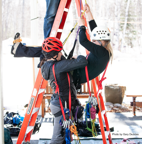 """Kirstie Ennis and Katelyn Sheehan train for their Mount Denali summit. """"When we are roped together, that is literally me saying, if I fall you got me, if you fall, I've got you,"""" Sheehan said to RCL during an interview. """"And that's a huge promise and to be able to that for each other and to be able to say, at your weakest point, I'll be strong enough for both of us."""""""