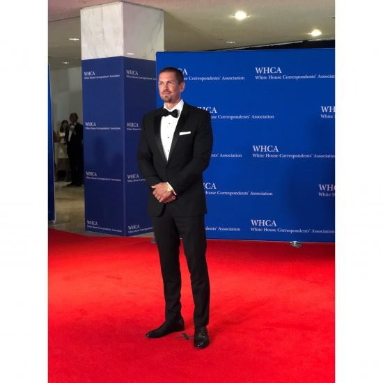 """Actor Steve Howey arrives at the red carpet. He is known for his roles on """"Shameless"""" and """"Reba."""" (Rebecca Gibian/RealClearLife)"""