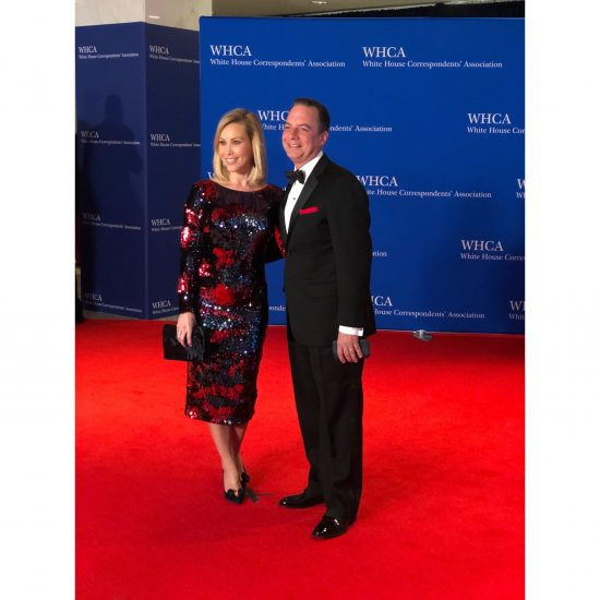 Former White House Chief of Staff Reince Priebus and his wife. (Rebecca Gibian/RealClearLife)