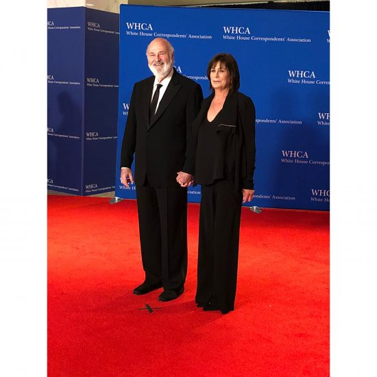 Actor Rob Reiner and wife, Michele Singer Reiner. (Rebecca Gibian/RealClearLife)