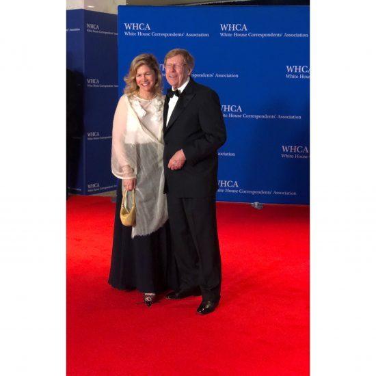 Former United States Solicitor General Theodore Olson and wife Lady Booth. (Rebecca Gibian/RealClearLife)