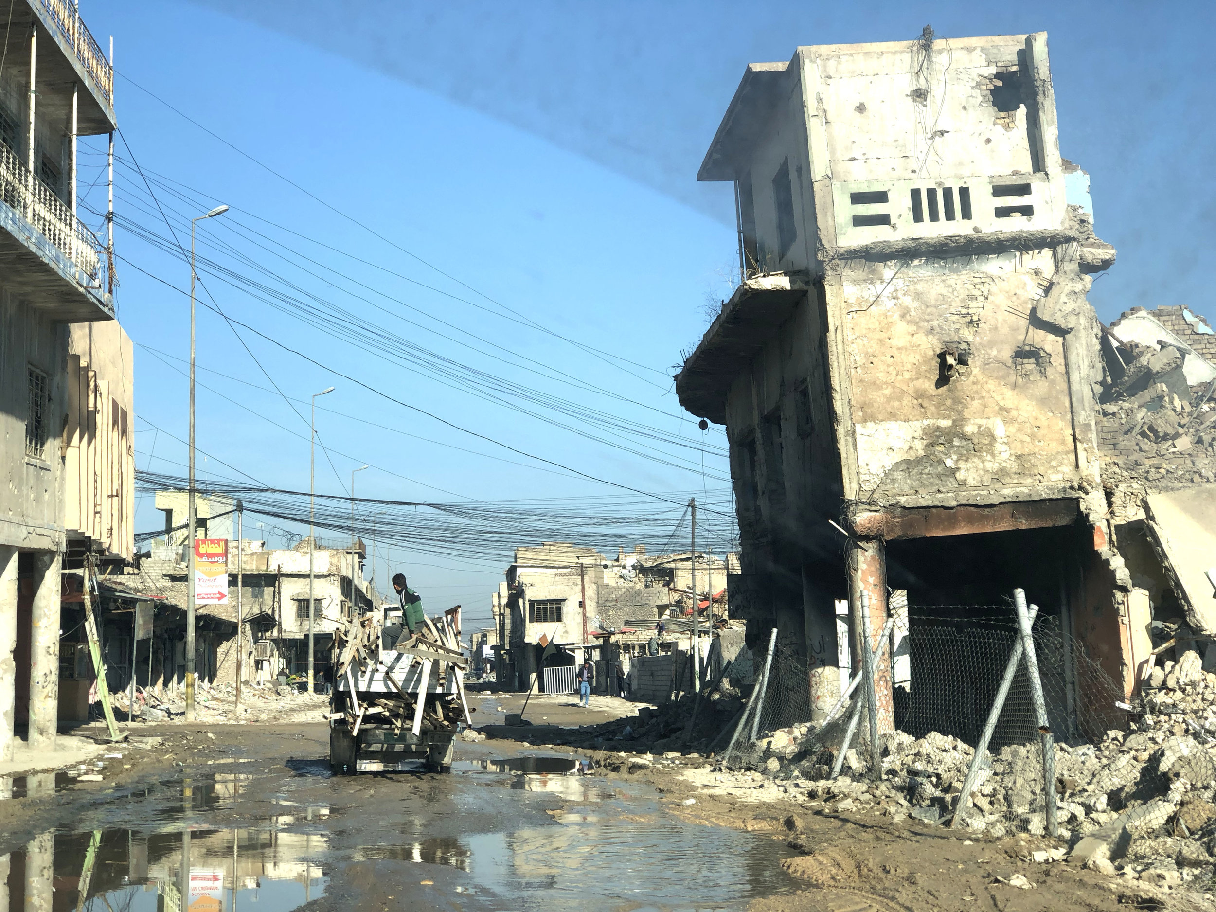 A destroyed block in western Mosul. November, 2018. (Rebecca Gibian)
