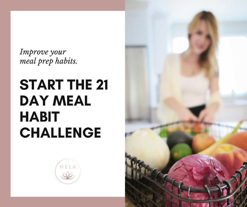 Want to get inspired? - Start the 21 Day Meal Habit Challenge & receive the bonus meal prep self-assessment.