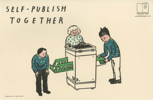 From the self-publishing poster series, printed on the Temporary Services RISO with drawings by Kione Kochi.