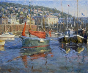 FRED DOLORESCO---Mousehole Harbor 24 x 30-Oil.jpg