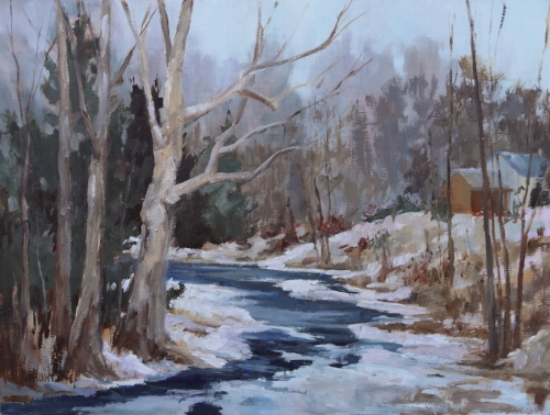 """Pictured above:Beverly Bruntz - """"Winter Blues"""""""
