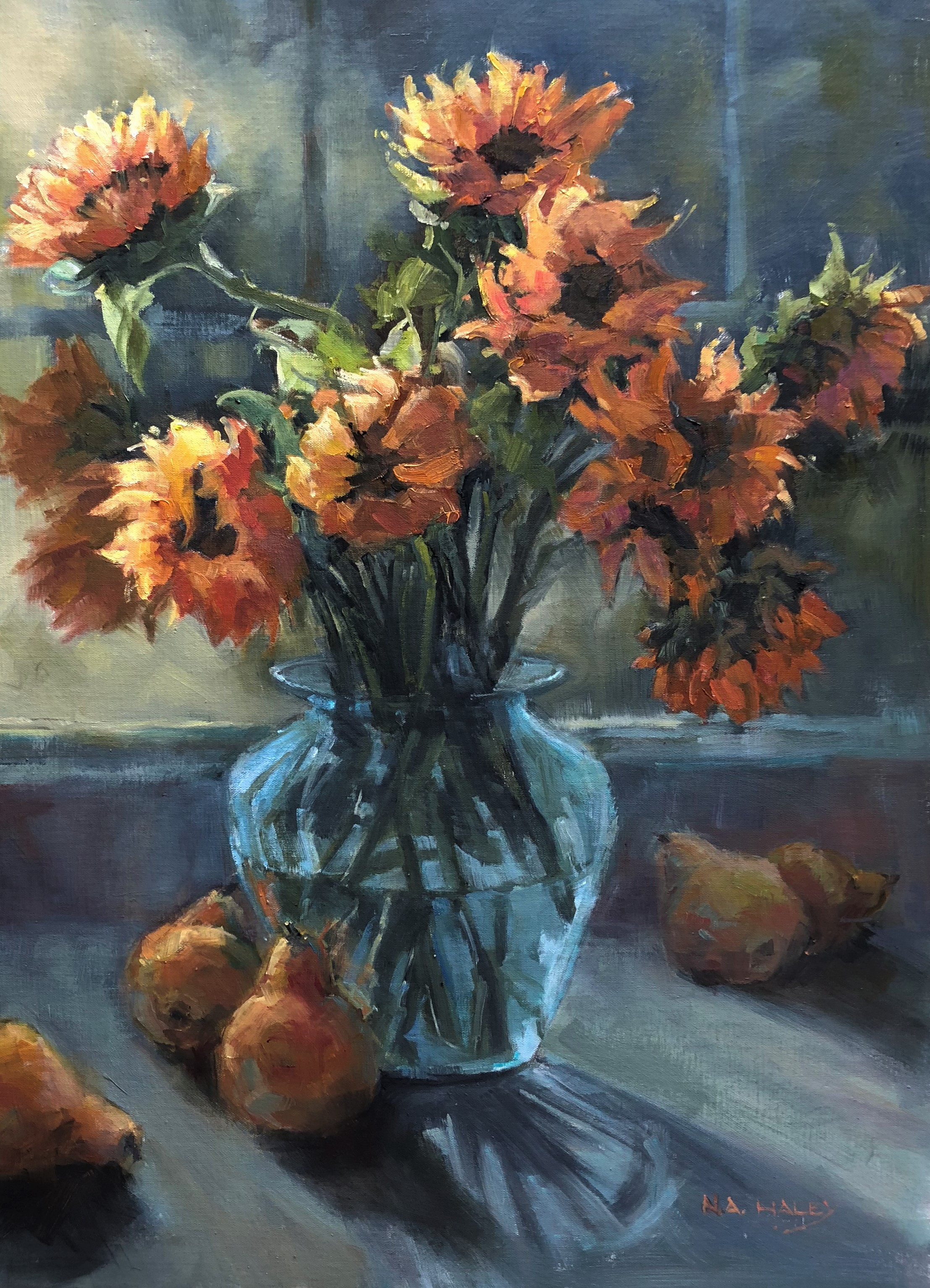 Nancy Haley, Sunflowers In The Kitchen.jpg