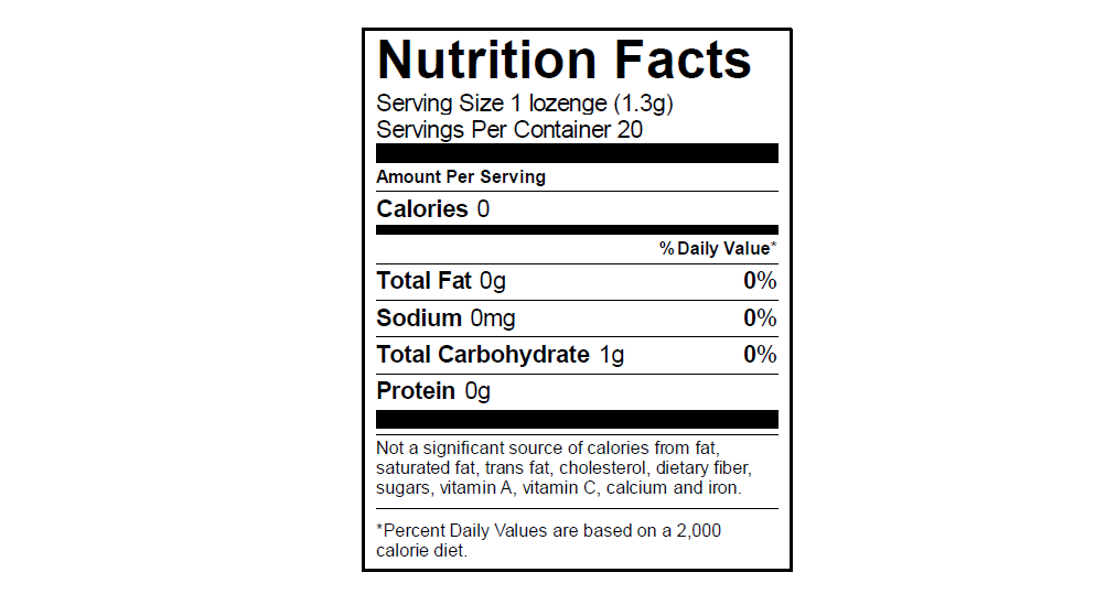 EGO Candy Nutrition Info