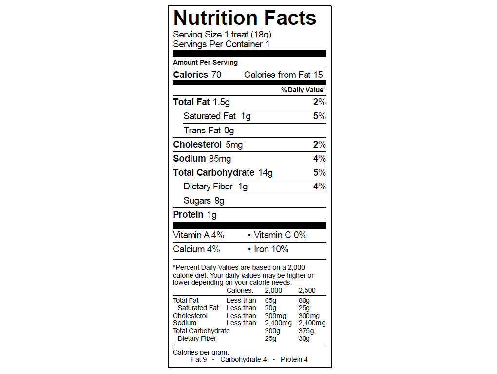 EGO Lucky Charm Treat Nutrition Info