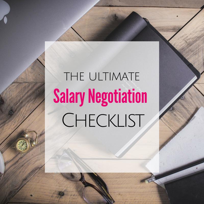 Salary Negotiation Checklist