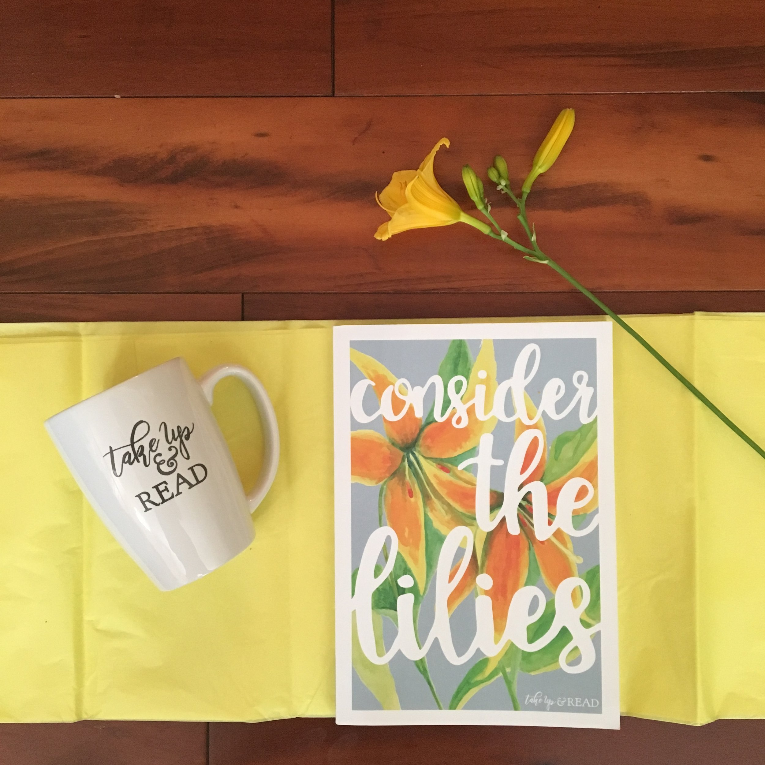 Consider the Lilies - Consider the Lilies is a 7X10 softbound, matte cover Scripture study journal that is thoughtfully written and beautifully designed. Every day of this six week study provides Scripture to get you started and notes for further Bible reading. You will find a daily devotion, some thoughts to consider as journal, and a prayer prompt to dovetail with your reading. There are generous pages for writing and art journaling. Step by step, day by day, these words console and bring clarity to the hard days. The journal is undated and suitable for any time of year. Read more here.