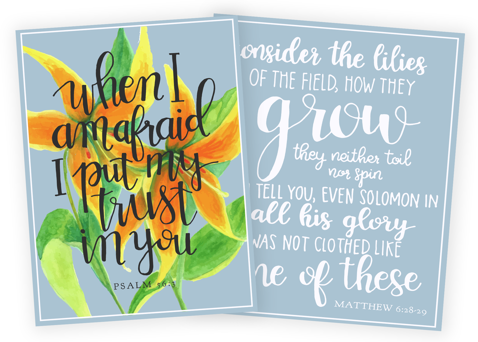 Scripture Art Prints for Consider the Lilies -