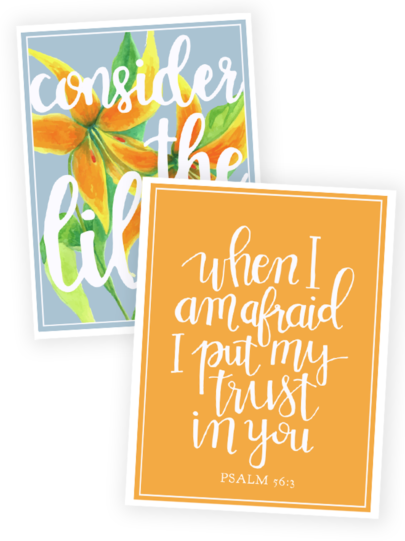 Scripture Memory Verse Cards for Consider the Lilies -