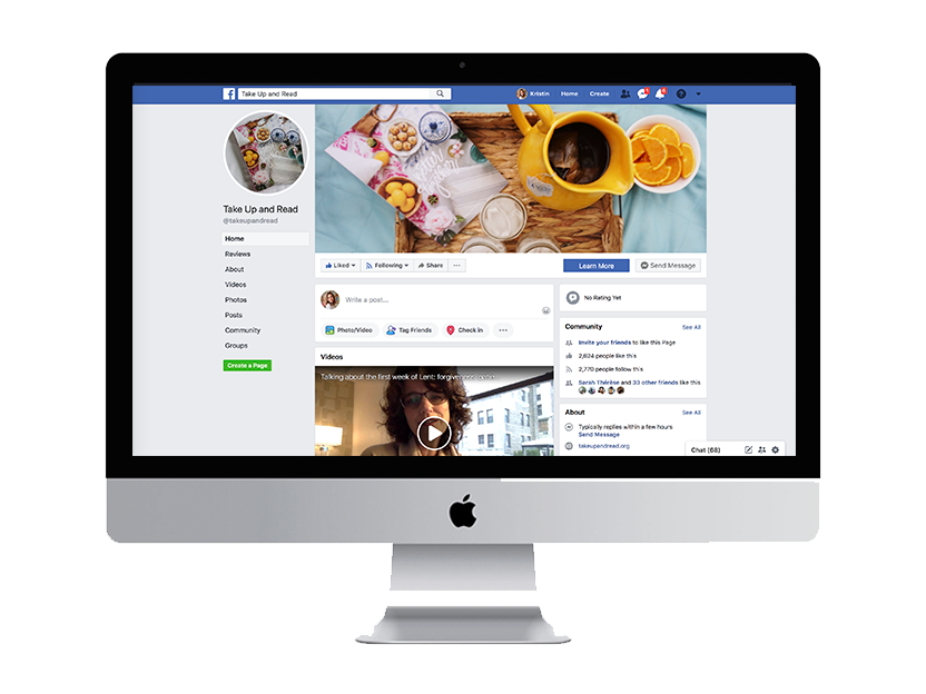 Members-only Facebook Group - with special Live! chats from the Take Up & Read team