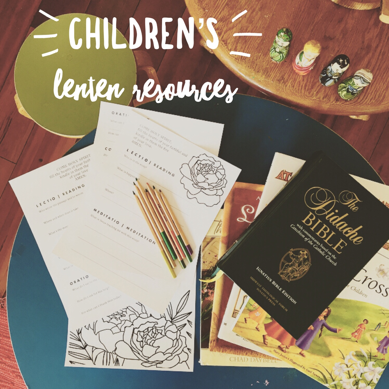 Lenten Resources for Children - We love digging into the Word with our children beside us and we hope these tools help you to do that with your children this Lent