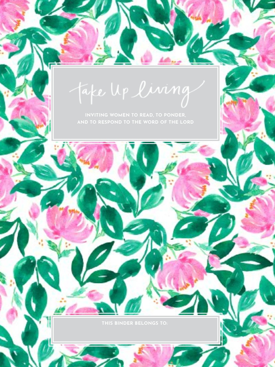 Peony Floral Binder Cover + Start Page -