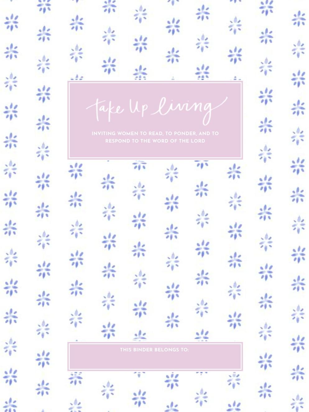 Blue Block Print Binder Cover + Start Page -