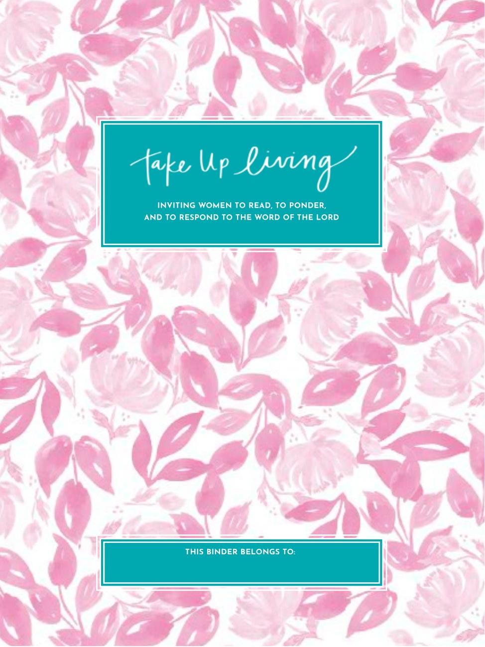Pink Floral Binder Cover + Start Page -