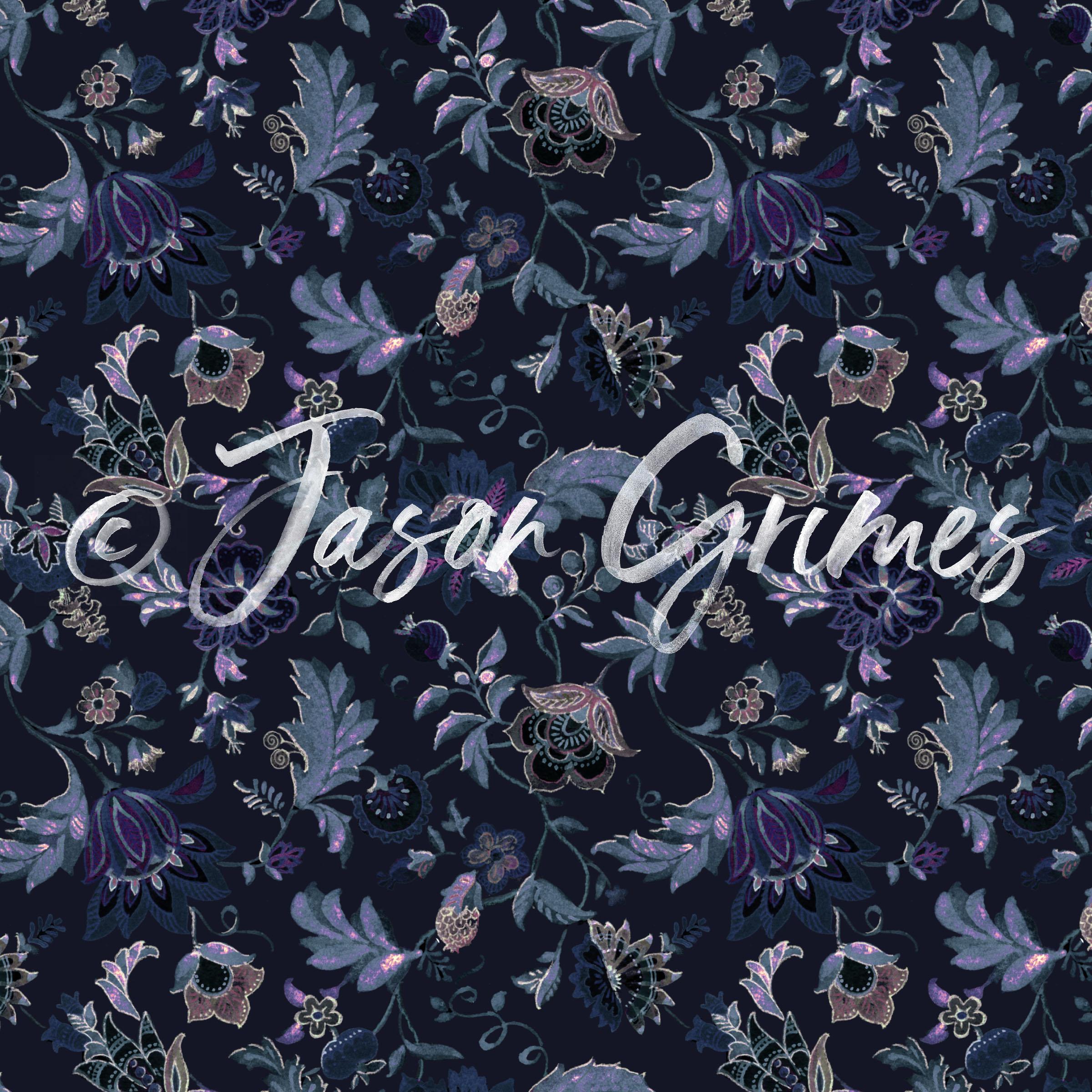 Jacobean Floral - Dark