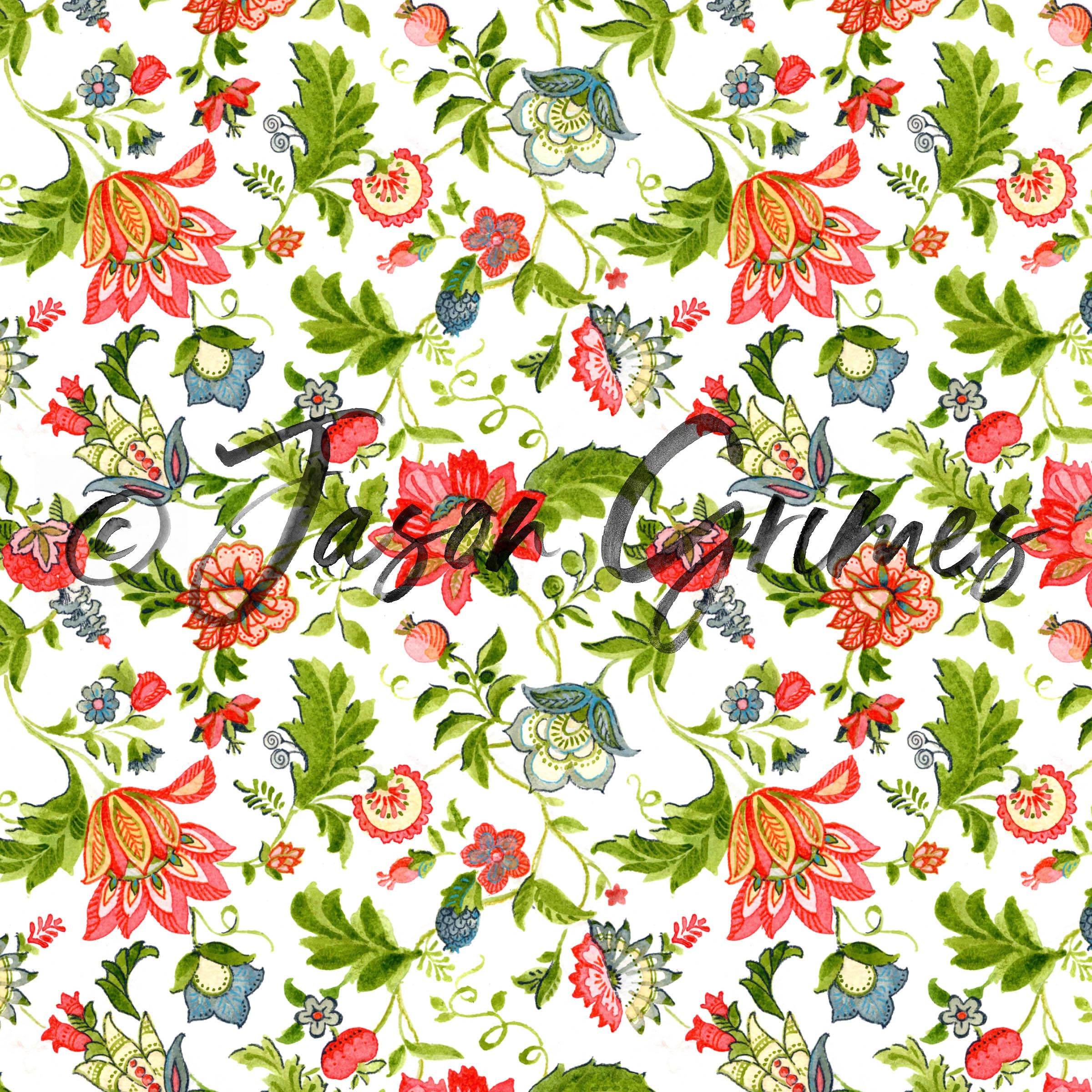 Jacobean Floral - Full Color