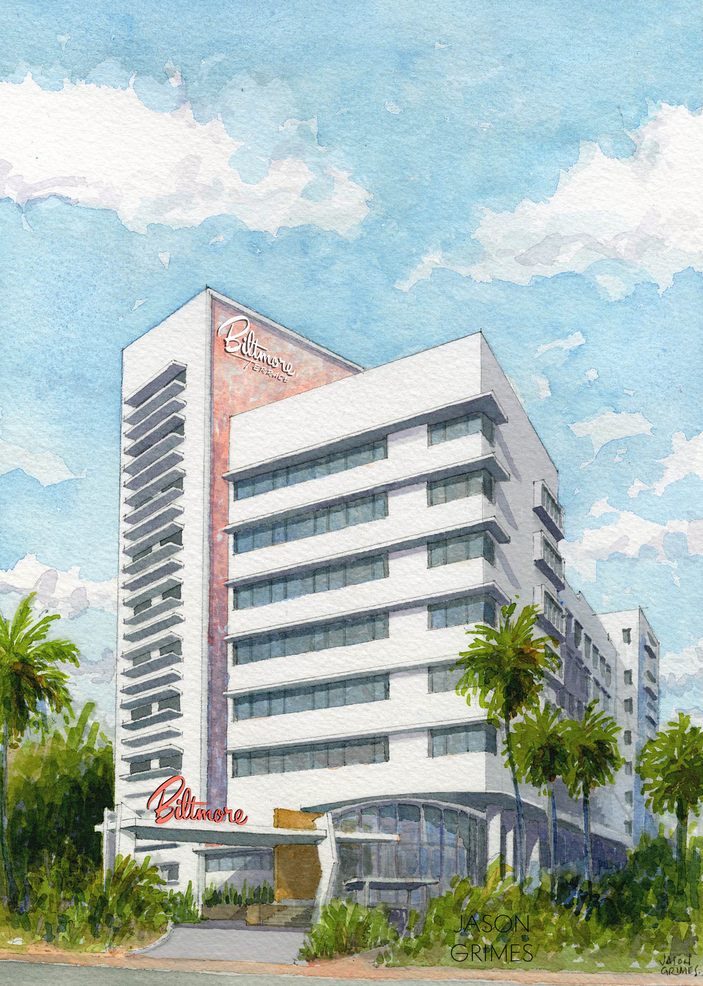 A little spit shine is all this forgotten Miami Modern classic on Collins Avenue in Miami Beach needed… they tore it down instead.
