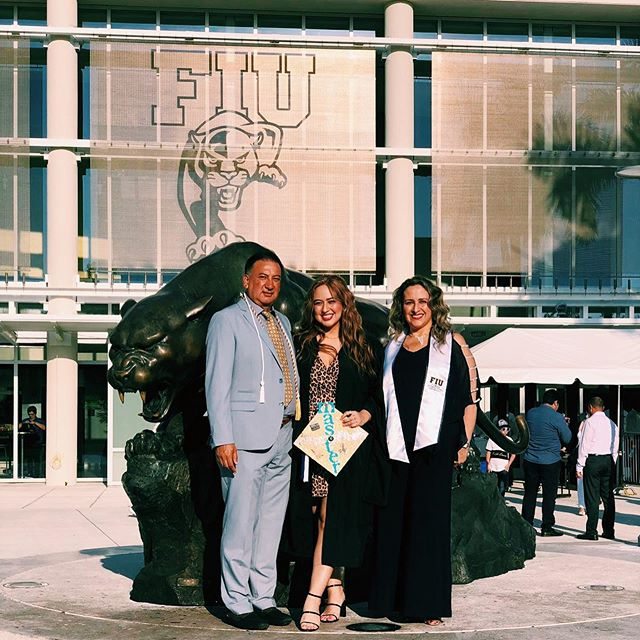mom & dad 🥰👪🎓🥳 #Masters #FIU #ClassOf2019 #FIUgrad #Graduation