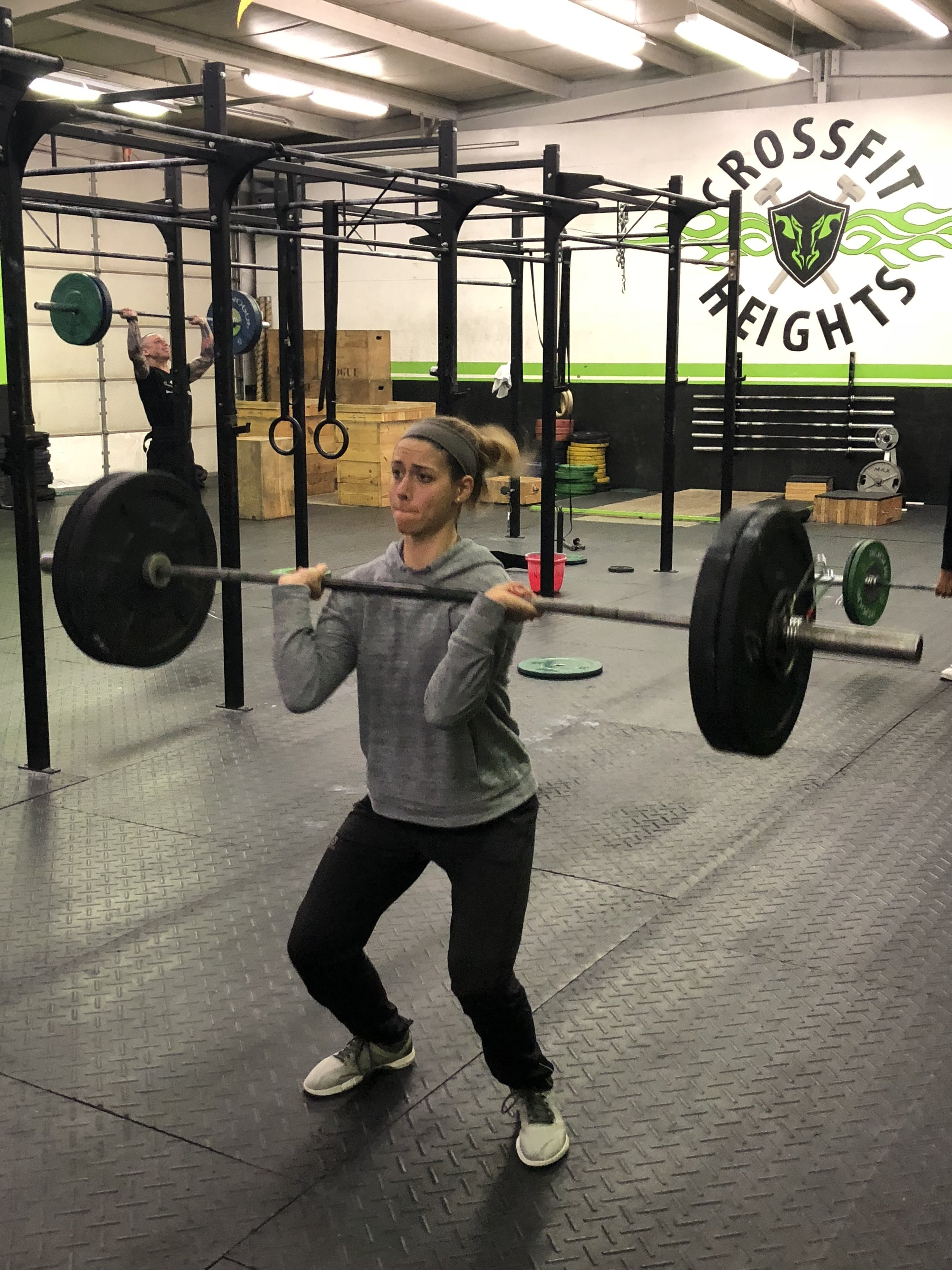 """Kelly was one of many athletes who PRd their """"Annie"""" time on Wednesday  Awesome job everyone."""